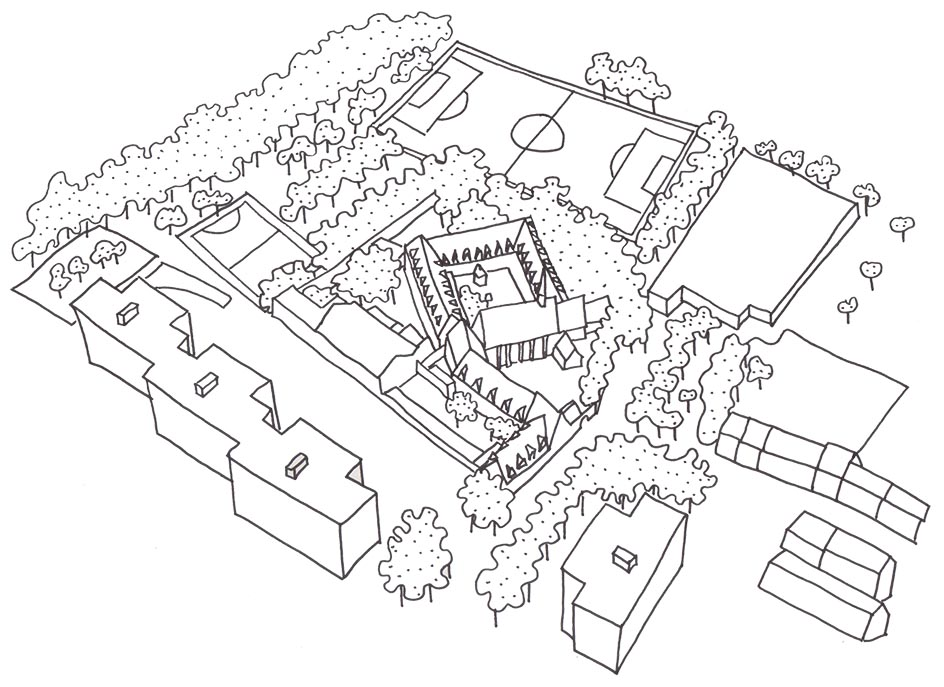 A drawing of the neighbourhood